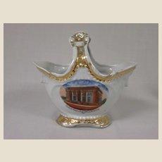 Souvenir Porcelain Basket