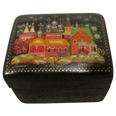 Miniature Lacquer Box from Russia