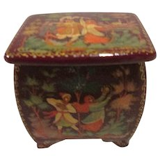 Tiny Miniature Lacquer Box from Russia