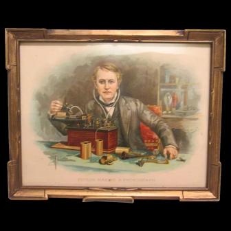 Chromolithograph of Thomas Edison