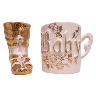 Circa 1915 Baby Cup & Bootie