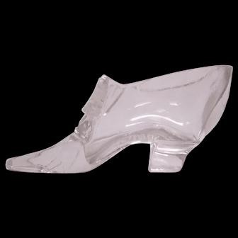 1876 Centennial Souvenir Glass Shoe