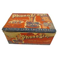 Rare Talkie Tone Toy Phonograph