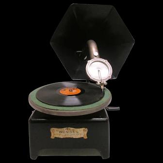 "Rare ""Little Wonder"" Toy Phonograph"