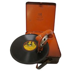 Rare German National Band Toy Phonograph