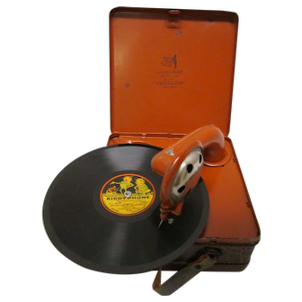 Rare German National Band Toy Phonograph