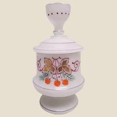 Victorian Bristol Glass Dresser Jar