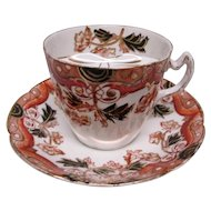English China Mustache Cup & Saucer