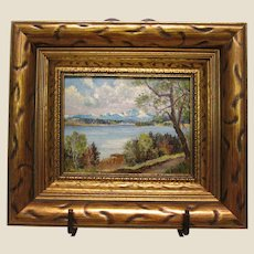 19th Century Oil Painting of the Starnberger See