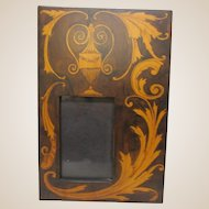 Antique Pyrographic Picture Frame