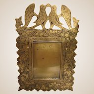 Unusual Antique Brass Picture Frame