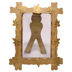 Antique Gilt Brass Picture Frame