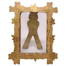 Antique Gilt Brass Picture Frame