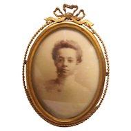19th Century Gilt Bronze Picture Frame