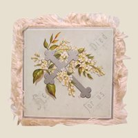 Antique Easter Card with Silk Fringe