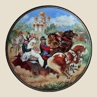 Set of 4 Russian Porcelain Souvenir Plates