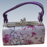 Lovely Lavender Floral Purse For Old and New Dolls