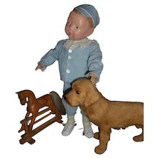 Antique Schoenhut Wood Infant Doll Tootsie Wootsie Very Rare