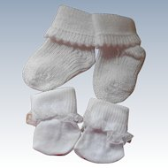 Lot Of 3  Pair of Footwear 2 Pair of Booties 1 Pair of Socks