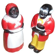 Vintage Black Aunt Jemima And Uncle Mose Salt Figures Final Markdown