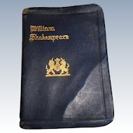 Miniature Leather Bound Book Othello by William Shakespeare Doll Size
