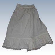 Early White Cotton Petticoat