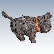 Miniature Black Mechanical Scottie Dog Needs Repair