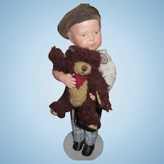 Antique Schoenhut Wood Toddler Walker Doll Limited Time Sale