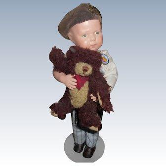 Antique Schoenhut Wood Toddler Walker Doll
