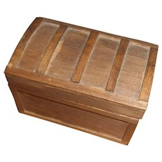 Miniature Wood Trunk With Tray And Toys