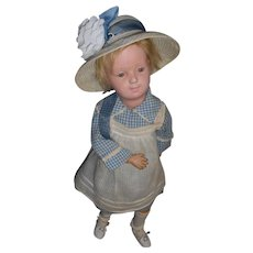 Antique Wood Schoenhut Model 313 Character Girl Rare Smooth Eyes