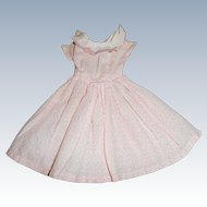 Pink Cotton  Dress For Fashion Doll Or China Free Shipping