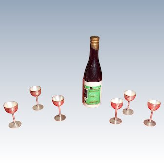 Miniature Spirits  Bottle With 6 Goblets