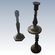 3 Vintage Doll Size Brass Candlesticks