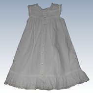 Vintage White  Child's Dress For Large Doll Use As A Pinafore Overdress