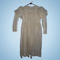 Antique 2 Piece Dress For Large Doll Or Child Costume