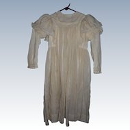 Antique Edwardian Child's Dress For Large Doll Or Child Costume