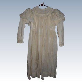 Antique Edwardian Child's Dress For Large Doll Or Child Costume