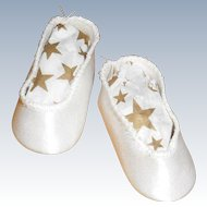 Small Satin Slip On Doll Shoes