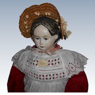 28 Inch Antique Greiner Paper Mache Head Doll Free Shipping Special  Price