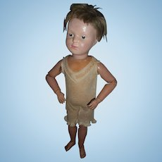 Antique Wood Schoenhut Doll Model 308 To Restore Free Shipping