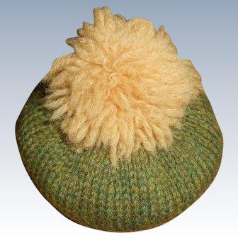 Vintage Wool Knit Tam Hat
