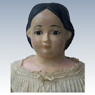Antique Paper Mache Head Greiner Cloth Body