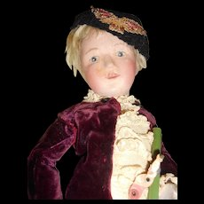 Wooden Schoenhut Boy To Restore With Original Union Suit Outfit And Toys