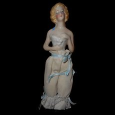 Vintage Porcelain Half Doll With Lower Body