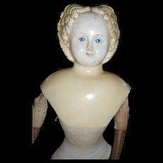 Antique Greiner Paper Mache Head Blonde Final Markdown