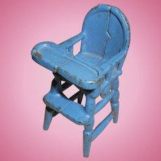Cast Iron Kilgore Miniature Blue High Chair