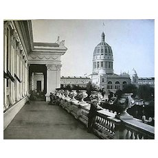 1893 World's Columbian Exposition View From The Balcony of Woman's Building by W.H. Jackson