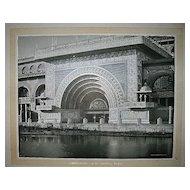 1893 World's Columbian Exposition Golden Door of Transportation Building by W.H. Jackson