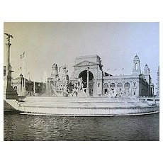 1893 World's Columbian Exposition MacMonnies' Fountain From South Terrace by W.H. Jackson